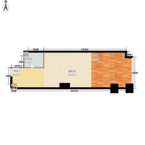 橙悦城1卫0厨67.00㎡户型图