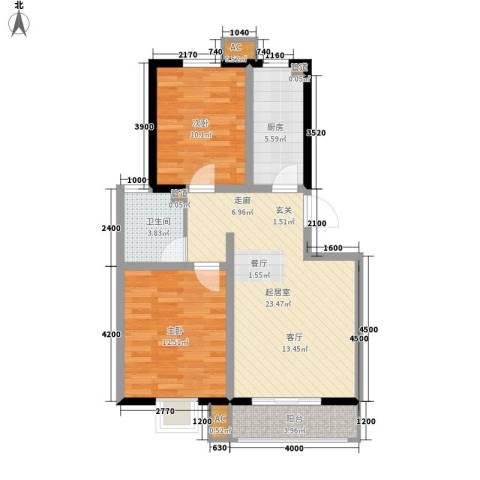 紫苑2室0厅1卫1厨89.00㎡户型图