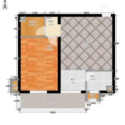 上城浩林园1室0厅1卫1厨67.00㎡户型图