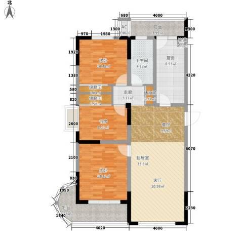 浦洲花园3室0厅1卫1厨135.00㎡户型图
