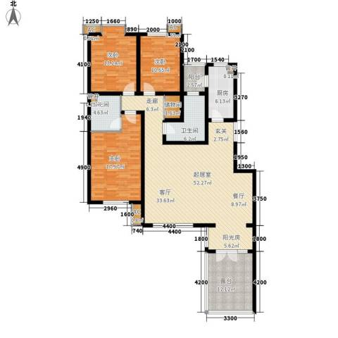 嘉实蓝岸3室0厅2卫1厨149.00㎡户型图