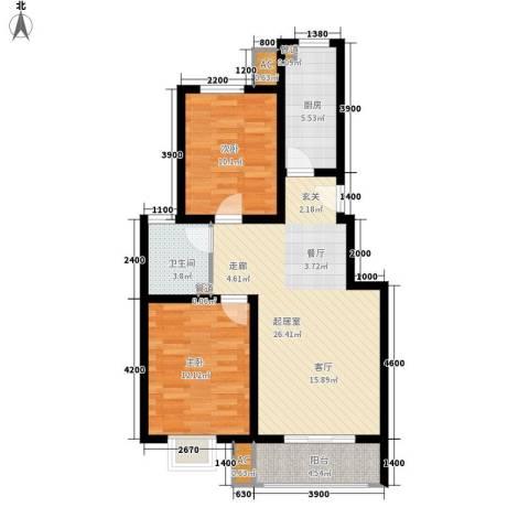 紫苑2室0厅1卫1厨92.00㎡户型图
