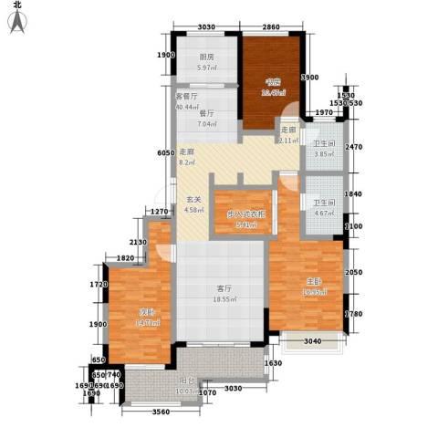 建东・悦海湾3室1厅2卫1厨150.00㎡户型图