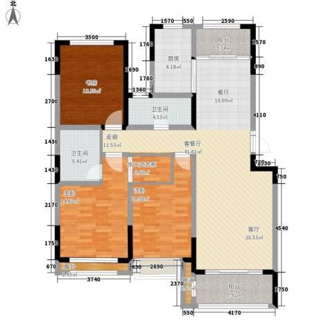 建东・悦海湾3室1厅2卫1厨148.00㎡户型图