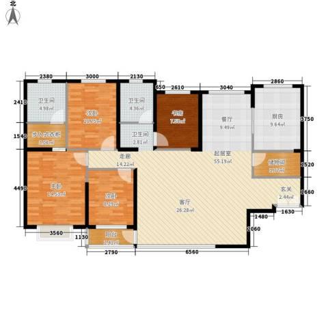 青洲豪庭4室0厅2卫1厨158.00㎡户型图