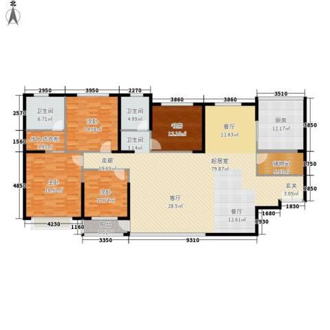 青洲豪庭4室0厅2卫1厨188.00㎡户型图