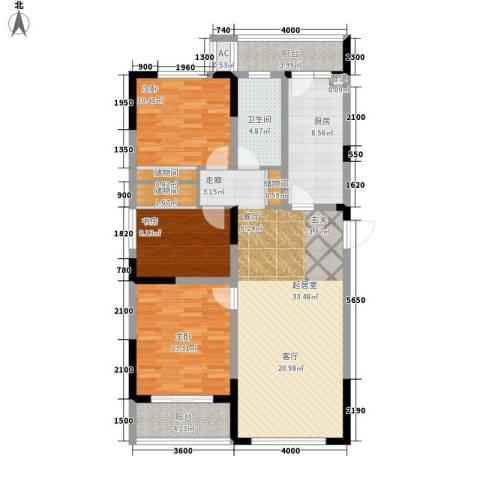 浦洲花园3室0厅1卫1厨131.00㎡户型图