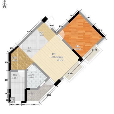 浦洲花园1室0厅1卫1厨79.00㎡户型图