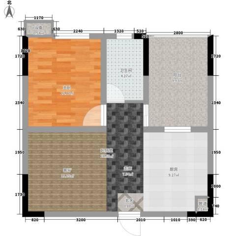 枫雅名苑1室0厅1卫0厨62.00㎡户型图