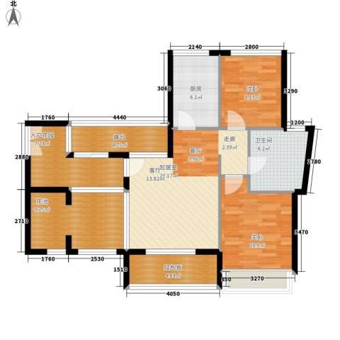 竹悦山水2室0厅1卫1厨78.08㎡户型图