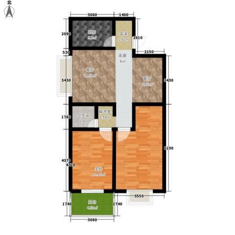 紫薇苑2室0厅1卫1厨85.00㎡户型图