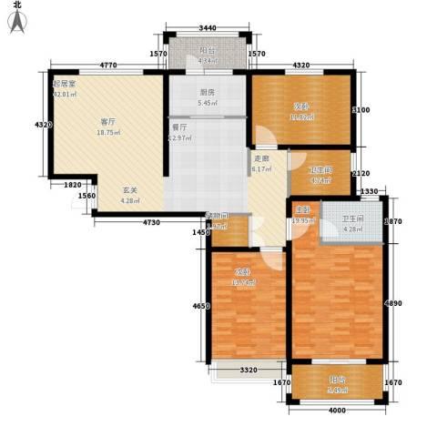 世纪名园3室0厅2卫1厨128.00㎡户型图