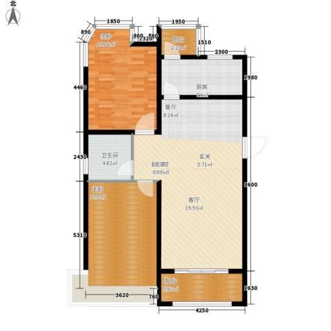 世纪名园2室0厅1卫1厨100.00㎡户型图