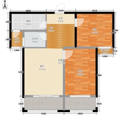 世纪名园2室0厅1卫1厨99.00㎡户型图