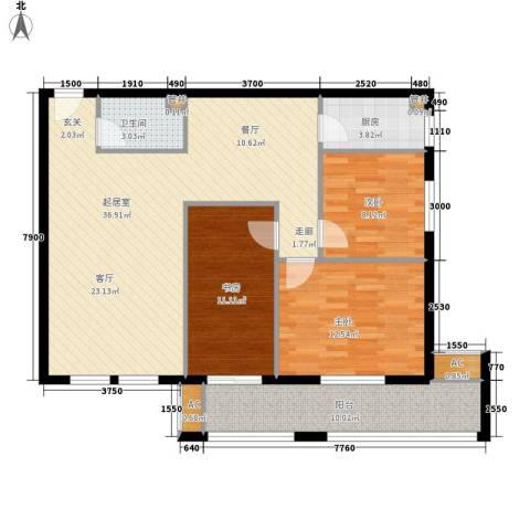 幸福里3室0厅1卫1厨97.95㎡户型图