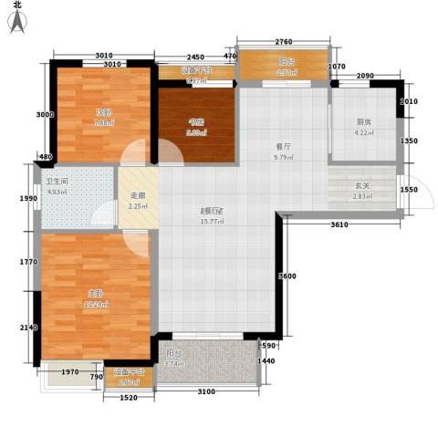 水墨丹青3室0厅1卫1厨102.00㎡户型图