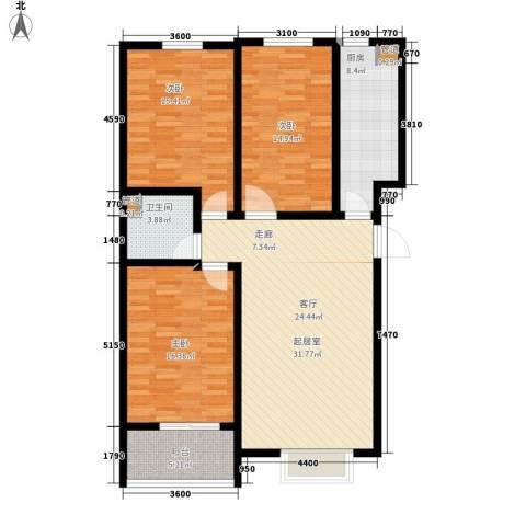 天域嘉园3室0厅1卫1厨113.00㎡户型图