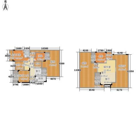 鲁能领秀城3室2厅3卫1厨331.58㎡户型图