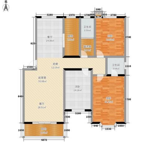 都市怡景3室0厅2卫1厨140.00㎡户型图