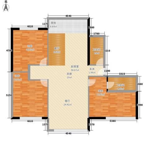 油脂公司宿舍3室0厅2卫0厨128.00㎡户型图