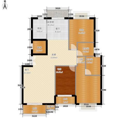 花香维也纳3室0厅2卫1厨143.00㎡户型图