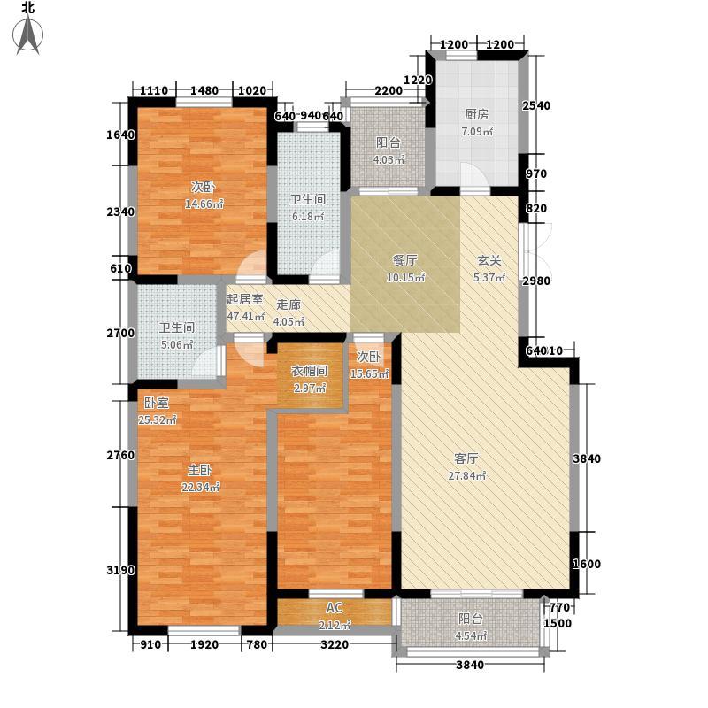 锦麟176.65㎡9号楼B2面积17665m户型