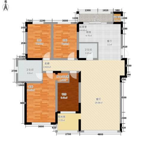 万盛中央一品4室0厅2卫0厨171.00㎡户型图