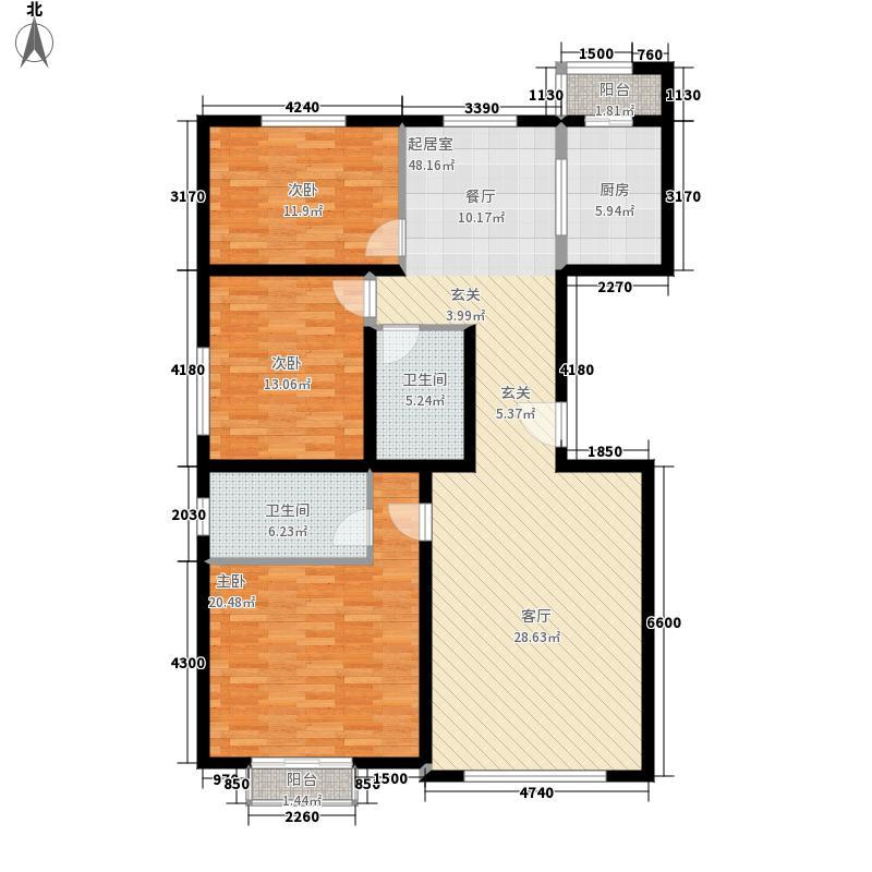 新街坊129.49㎡新街坊户型图(2/9张)户型10室
