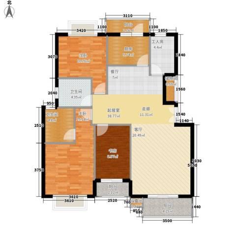 花香维也纳3室0厅2卫1厨147.00㎡户型图