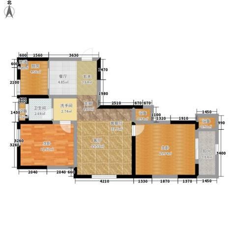 观城2室1厅1卫1厨103.00㎡户型图