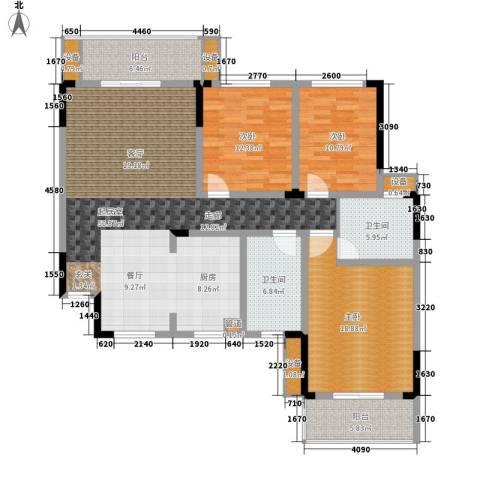 枫雅名苑3室0厅2卫0厨139.00㎡户型图