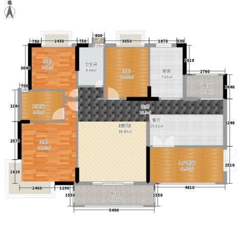 罗马商业广场3室0厅2卫1厨134.00㎡户型图
