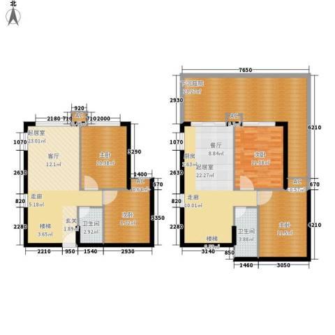 翠屏紫气钟山4室0厅2卫0厨134.00㎡户型图