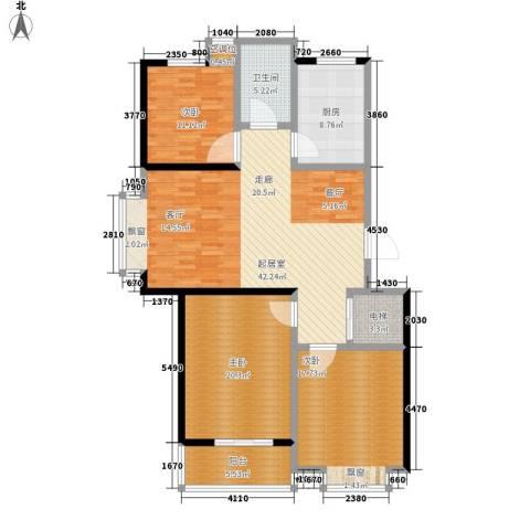 都市怡景3室0厅1卫1厨128.00㎡户型图