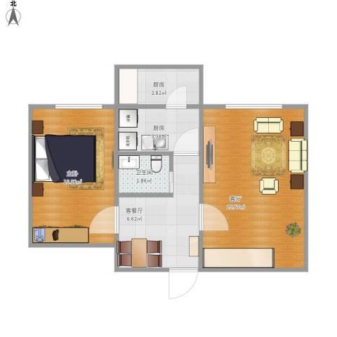 劲松五区517号楼4单元3021室2厅1卫2厨56.00㎡户型图