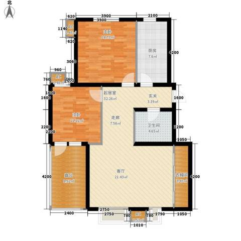 易水龙脉2室0厅1卫1厨95.43㎡户型图