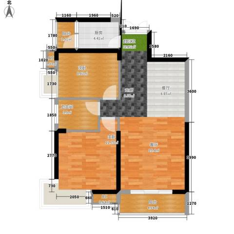 罗马商业广场2室0厅1卫1厨88.00㎡户型图
