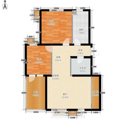 易水龙脉2室0厅1卫1厨96.27㎡户型图