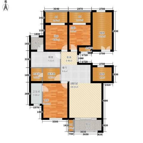 美和蓝湾3室0厅2卫1厨161.00㎡户型图