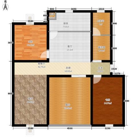 龙蟠花苑2室1厅1卫1厨150.00㎡户型图