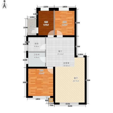 中东首座3室0厅1卫1厨107.00㎡户型图