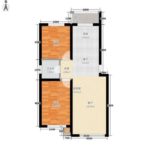 中东首座2室0厅1卫0厨85.00㎡户型图