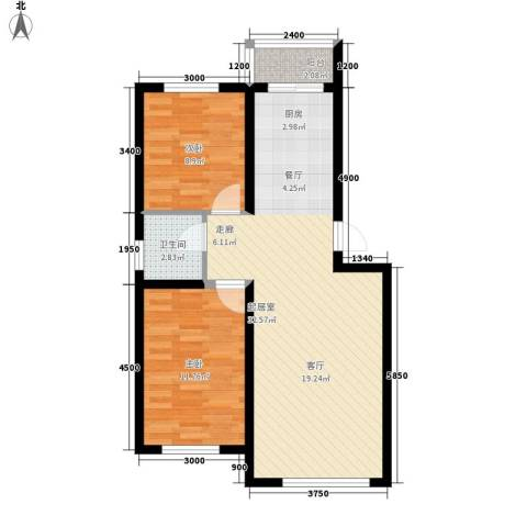 中东首座2室0厅1卫0厨83.00㎡户型图