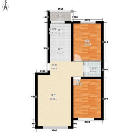 中东首座2室0厅1卫0厨94.00㎡户型图