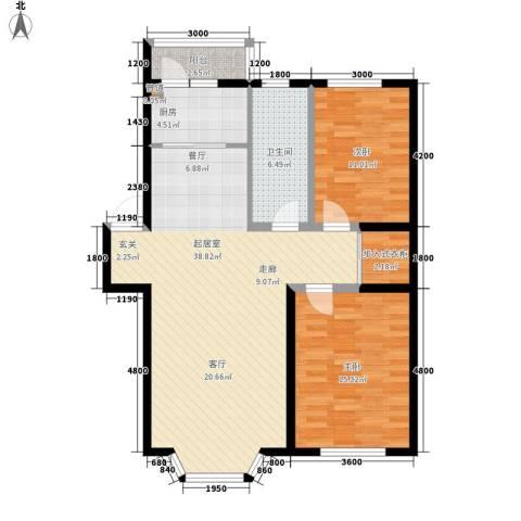 华泰世纪新城2室0厅1卫1厨115.00㎡户型图