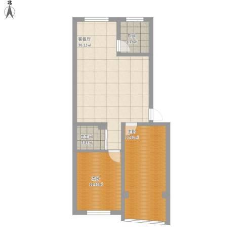 世家花园2室1厅1卫1厨97.00㎡户型图