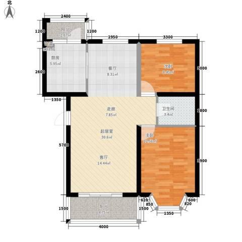 华泰世纪新城2室0厅1卫1厨97.00㎡户型图