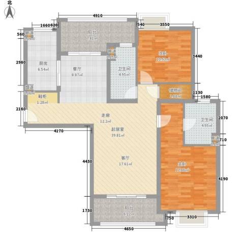 金桥瑞仕花园2室0厅2卫1厨118.00㎡户型图