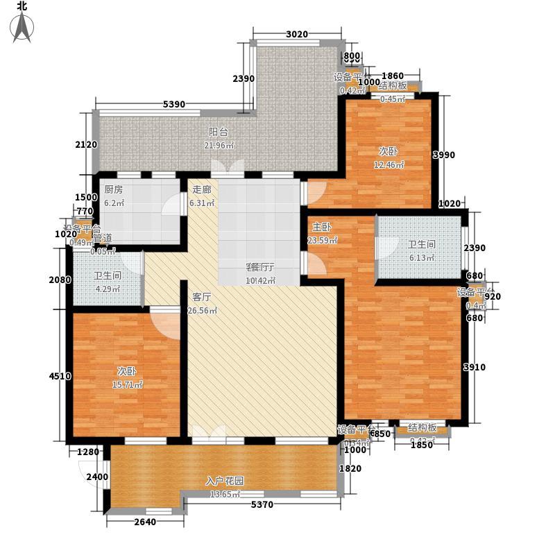 森林海143.00㎡花园洋房B三层户型