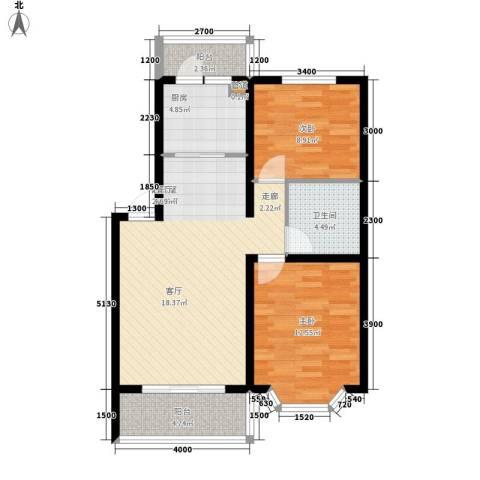 华泰世纪新城2室0厅1卫1厨91.00㎡户型图